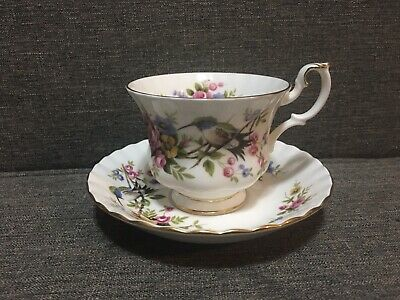 "Royal Albert Woodland Series ""Humming Bird"" Teacup and Saucer - Made In England"