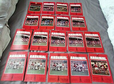 18 Arsenal Home Programmes from the 1979 - 80 Season