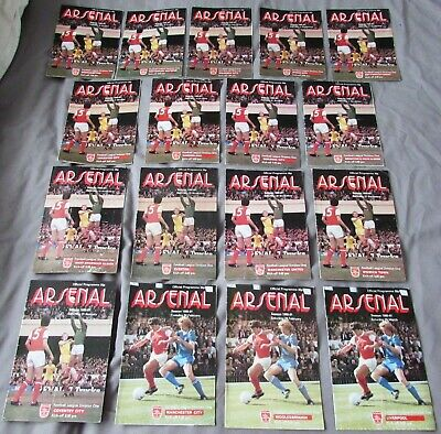 17 Arsenal Home Programmes from the 1980 - 81 Season