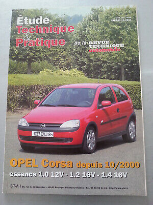Revue Technique Opel Corsa C Essence 1.0 12V 1.2 16V 1.4 16V Rta