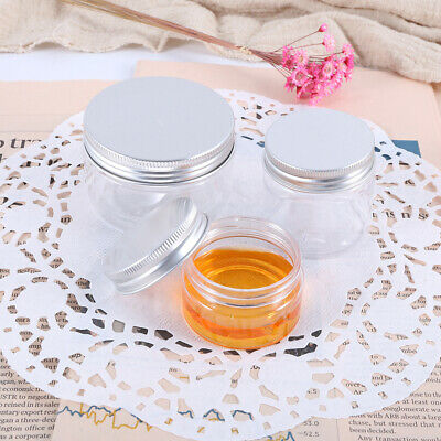 30/60/100ml Small Empty Clear Plastic Sample Jar Containers Cosmetic Makeup Pot