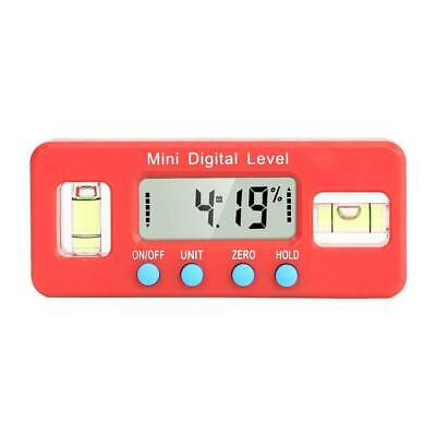 Digital Level Protractor Inclinometer Angle Finder Bevel Box Caliper (Red)