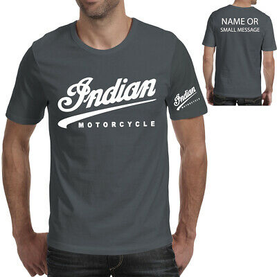 Indian Motorcycle Ted Biker Vintage Classic T-Shirt Retro Gift Mens Bike