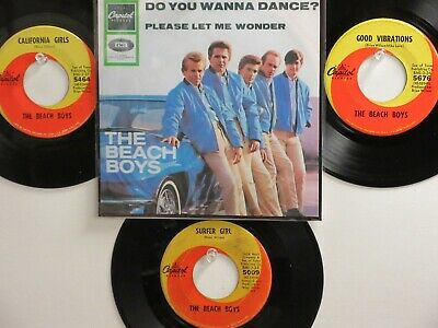 LOT OF 4 ' THE BEACH BOYS ' HIT 45's+1P(Copy)[Do You Wanna Dance?]   THE 60's!