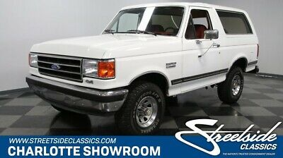 1989 Bronco 4X4 classic iconic white red fomoco electronic fuel injection 4 wheel drive