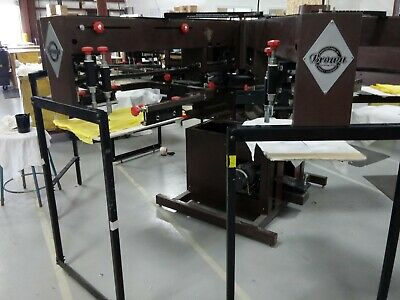 USED ANATOL AND M&R Screen Printing Presses, Flash Cure