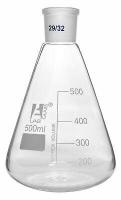 Conical Flask, 500ml - with Joint, Size 29/32 - Borosilicate Glass - Eisco Labs