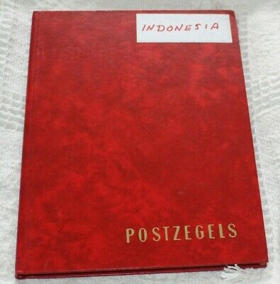 Collection From Indonesia In Red Stockbook