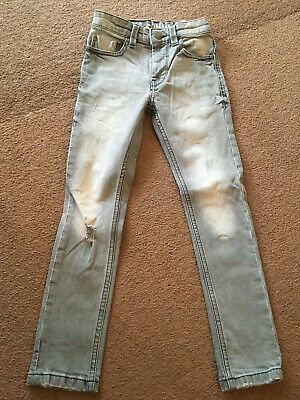 Next skinny rip grey jeans - Size 6 years - look inside