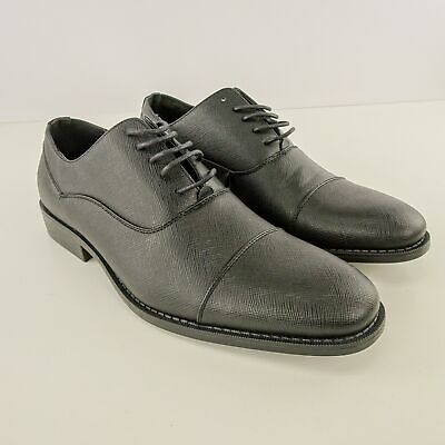 38b4137b4926 Unlisted By Kenneth Cole Mens Half Time Textured Oxford Black Size 9M NWB