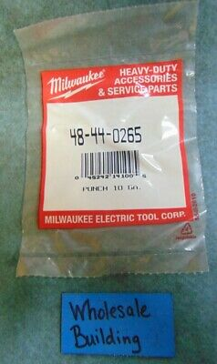 "Milwaukee Electric Tool Corp. Punch 10 Gauge, 48-44-0265,  1-3/4"" Length"