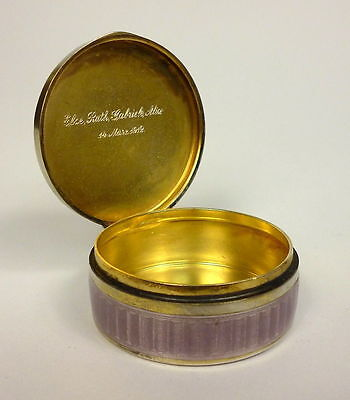 Dose Pillendose Silber Emaille 1912