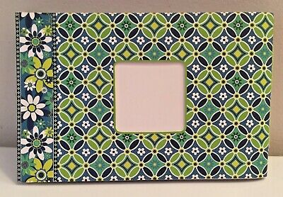 NEW VERA BRADLEY Photo Album_Retired CAPRI BLUE Paisley Print_Brag Book_24 Pics