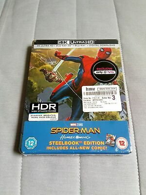 Spider-Man: Homecoming 3D/4K/2D HMV Limited Steelbook *Brand New Sealed*