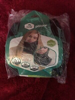 Trtl Pillow Scientifically Proven Super Soft Neck Support Travel Black Q2 D25