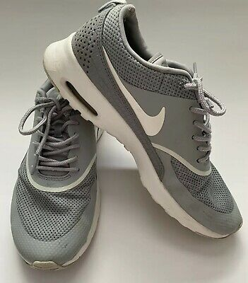 NIKE WOMEN'S GREY & White Air Max Thea 819639 001 Size 8