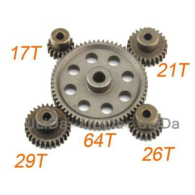 new Steel Spur Diff Main Gear 64T Motor Pinion 29/26/21/17T for HSP 1/10 RC Car