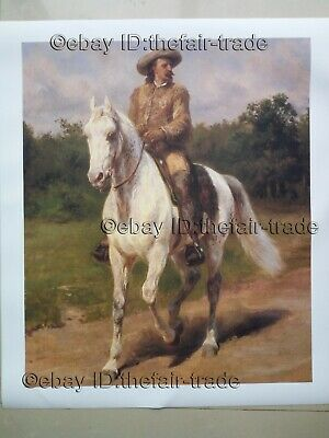 Buffalo Bill Horse Rosa Bonheur Cowboy Western Impressionist Oil Print On Canvas