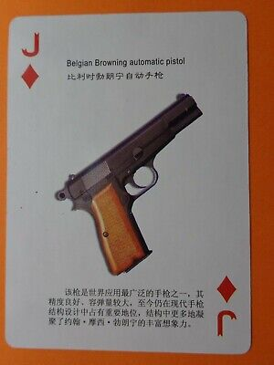 Beigian Browning Automatic Pistol  ; Swap Playing Card