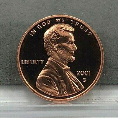 2001-S U.S. 1c Lincoln Cent Penny Proof Coin