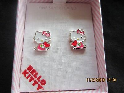 a3ce0bb0d 3 PR ADORABLE Hello Kitty Rose Gold Plated Enamel Stud Post Earrings ...