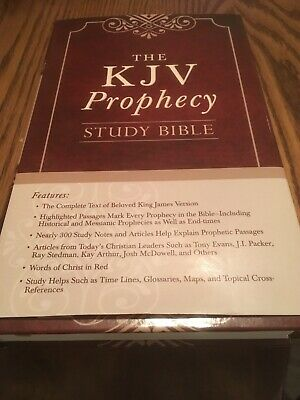 The KJV Prophecy Study Bible (King James Bible) (Hardcover) RED LETTER