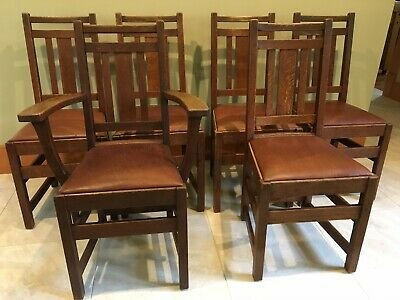 Limbert Arts And Crafts, Mission, Dining Chairs- Very Good+ Original Condition