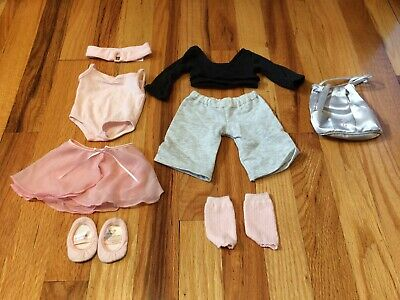 AMERICAN GIRL Doll Retired 2 IN 1 Pink Ballet Dance Outfit EUC 10 pieces