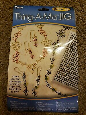 Darice THING-A-MA JIG DELUXE BEADING WIRE WORKING KIT aluminum jig