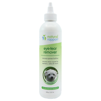 Natural Rapport Eye Tear Stain Remover for Cats & Dogs - Pet Tear Stain Remover