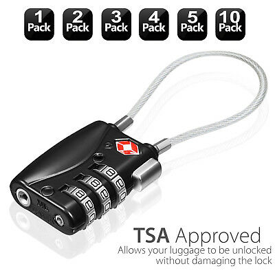 2/3/4/5x TSA Approve Luggage Lock Alert Indicator [3 Digit Combination] Padlocks