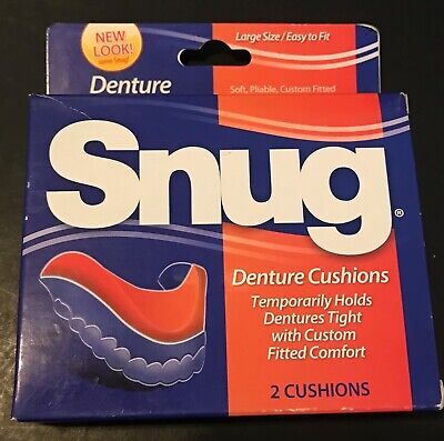 Snug Denture Cushions (Large Size/Easy Fit) **2 Cushions Per Box** New In Box