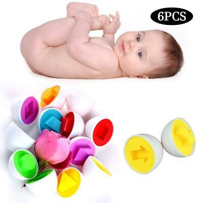 6Pcs Kid Puzzles Capsule Twist Egg Todlers Baby Study Shape Matching Toy Game UK