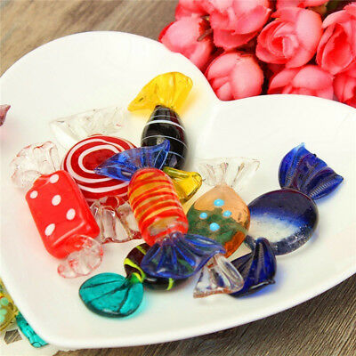 12pcs Colorful Vintage Murano Glass Sweets Wedding Xmas Party Candy Decor Gift