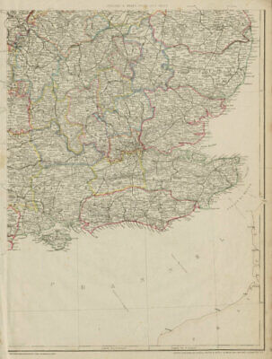 SOUTH EAST ENGLAND. Home Counties Surrey Kent Sussex Hants &c. WELLER 1862 map