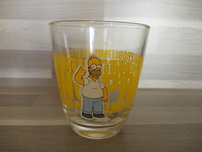 "Vintage collection glass Hoomer NO PROBLEMO ! - ""The Simpsons"" 2013"