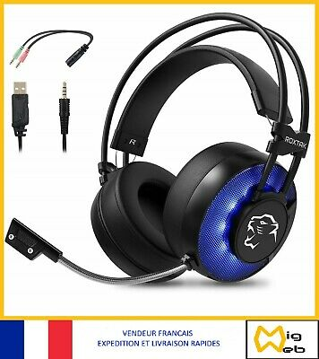 Micro Casque Gaming 360 Surround Audio Haute Qualité Led Pc Ps4