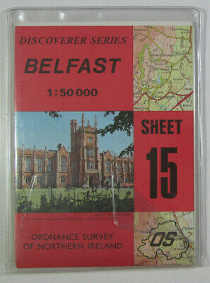 1988 Old OS Ordnance Survey N Ireland 1:50 000 Discoverer Series Map 15 Belfast