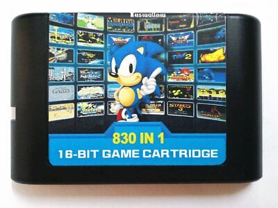 830 In 1 Multi Cart DIY Mega Drive / Genesis SEGA NTSC and PAL 16 Bit Game Card