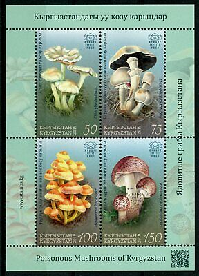 Kyrgyzstan KEP 2019 MNH Poisonous Mushrooms 4v M/S Fungi Nature Stamps