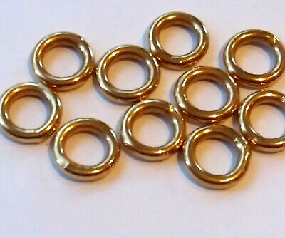 10 x Gold Plated 925 Sterling Silver Extra Heavy 2mm Wide Jump Rings 10mm Closed