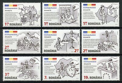Romania 2019 MNH Romanian Constitution Citizen Rights 9v Set Stamps