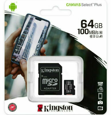 KINGSTON Canvas Select, Micro-SDXC Speicherkarte, 64 GB, 80 MB/s