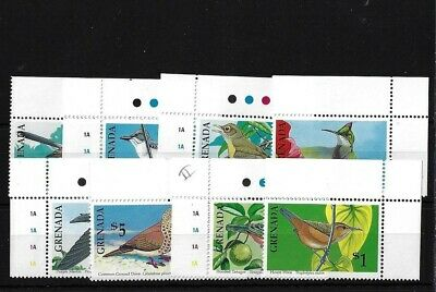 Grenada Sg2156/63, 1990 Birds Marginal Mnh Set
