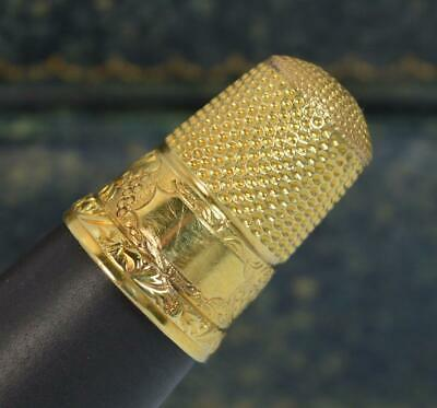 Victorian Good Quality Solid 14ct Yellow Gold Thimble p1883