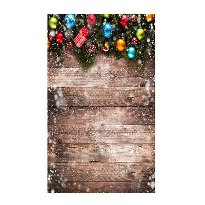 Andoer 1.5 * 0.9m/4.9 * 3.0ft Christmas Backdrop Photography Background R0T6