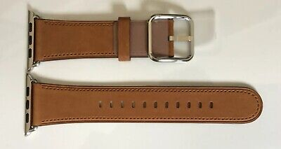 GENUINE Apple Watch Saddle Brown Leather strap Classic Buckle 42mm / 44mm