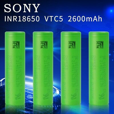 Sony VTC5 18650-2600mAh Li-Ion High Drain Battery with Charger(optional) LOT
