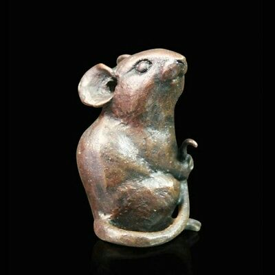 Little Mouse Solid Bronze Foundry Cast Sculpture Michael Simpson [1034]