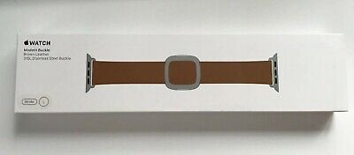 Genuine Apple Watch Brown LEATHER Strap Modern Buckle Size Large Fits 38mm +40mm